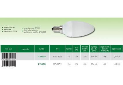 Emos żarówka energo Świeczka E14 9W